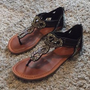 Sparkly Sandal Flats